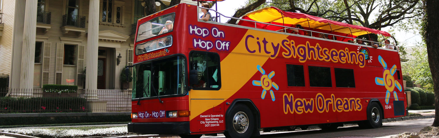 HopOn HopOff Bus Tour Map – Tourist Attractions Map New Orleans